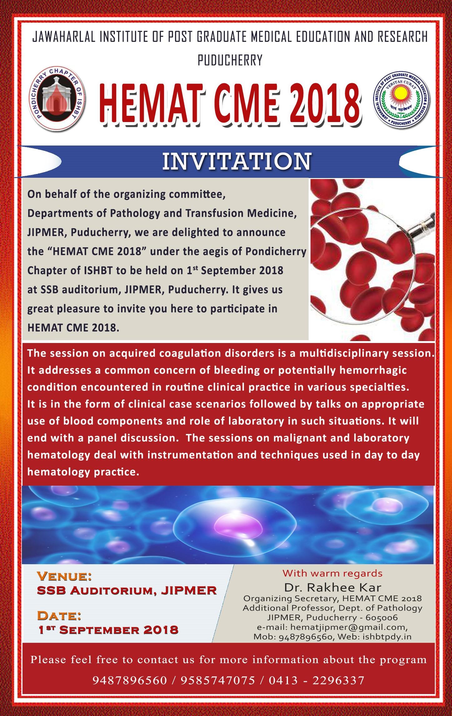 Pondicherry Chapter of ISHBT – Hematology and Blood Transfusion